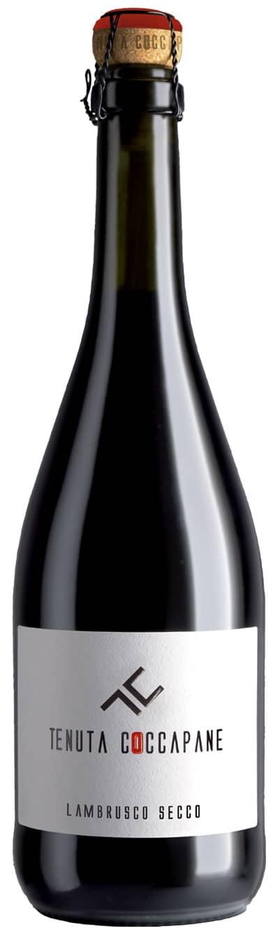 Lambrusco secco vino rosso frizzante Emilia Romagna della cantina Tenuta Coccapane