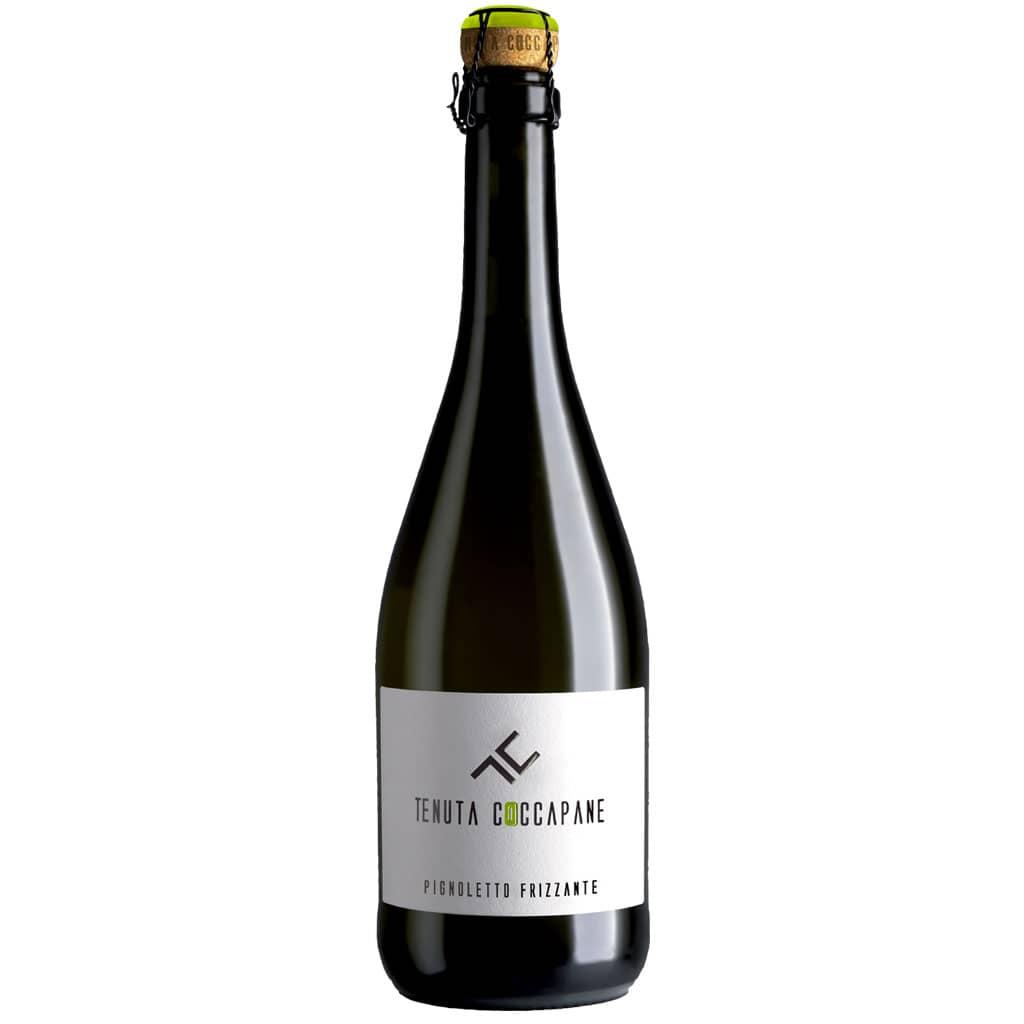 Pignoletto frizzante vino bianco Emilia Romagna della cantina Tenuta Coccapane